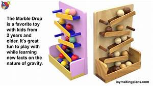 Wood Toy Plans - Marble Drop Learning Toys - YouTube