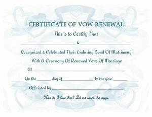 renewal of wedding vows certificate template With vow renewal certificate template