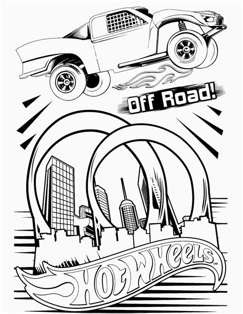 Hot Wheels Racing League: Hot Wheels Coloring Pages - Set 5
