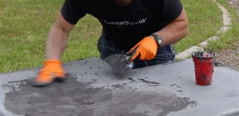 how to fill holes in concrete countertops how to make concrete countertops tutorial