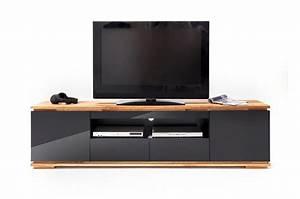 Meuble Tv Design Bois : meuble tv noir et bois design pour salon ~ Melissatoandfro.com Idées de Décoration