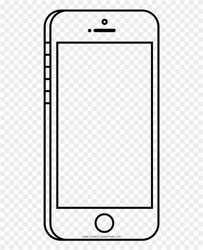Coloring Cell Pages Clipart Phone Outline Frieze