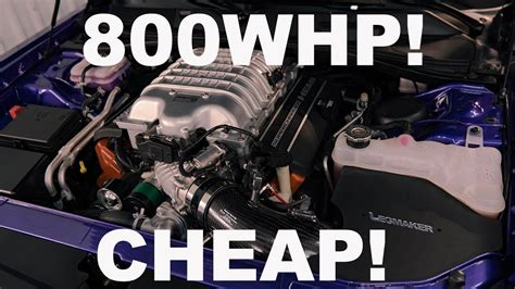 How Much Does A Dodge Hellcat Cost by How Much Does It Cost To Make A 800whp Dodge Hellcat
