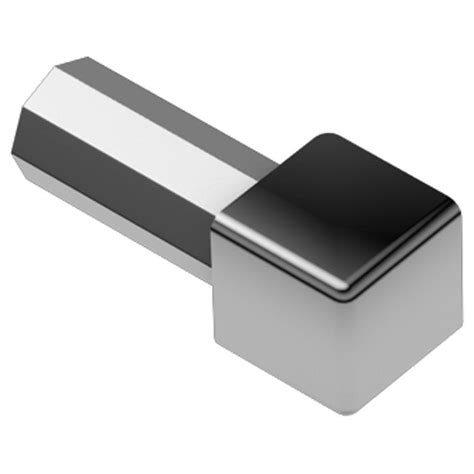Outside Corner Metal Tile Trim by Schluter Quadec Stainless Steel 3 8 In X 1 In Metal