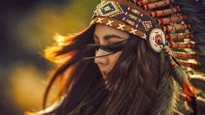 Native American Indian Wallpapers Headdress Backgrounds Female