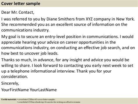 I Was Referred To You By Cover Letter by Top 5 Chief Information Officer Cover Letter Sles