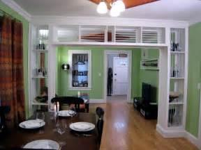 kitchen living room divider ideas built in bookcase and room divider hgtv