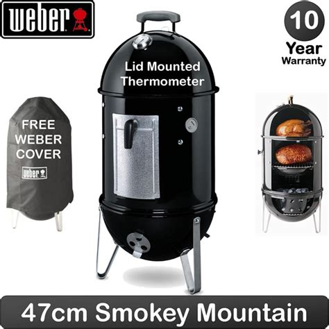 weber smoker 47 weber smokey mountain cooker 47cm now back in stock free next day delivery birstall garden