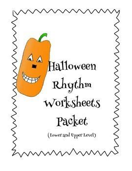 easy  intermediate halloween rhythm worksheets