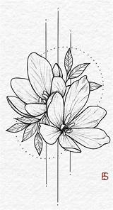 Flower Drawings Drawing Bulb Flowers Sketches Tattoos Illustration Hybrid Surreal sketch template