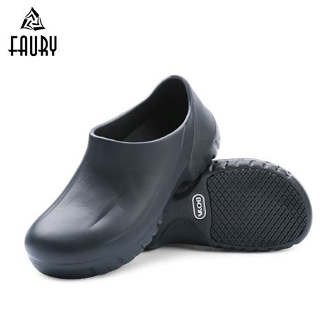 mens chef shoes kitchen working slippers clogs summer