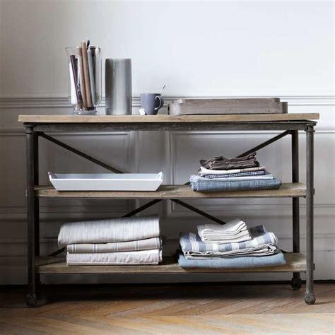 table console cuisine table console à roulettes en métal et archibald