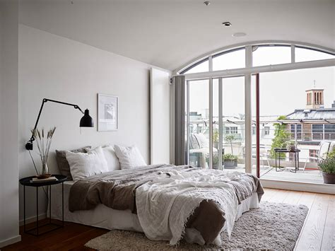neutral bedroom   balcony view coco lapine