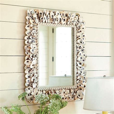 oyster shell decor oyster shell mirror european inspired home decor 1360