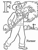 Coloring Pages Farmer Labor Print Printable sketch template