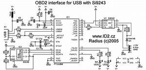 Obd2 To Usb Interface Cable Scheme And Plate Pinout  Odb2 To Usb Interface Cable Obd Ii Free
