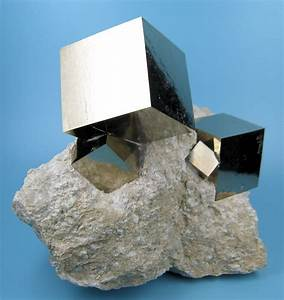 Naturally formed pyrite cubes : pics