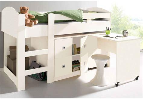 lit mezzanine avec bureau pour ado mezzanine chambre fille