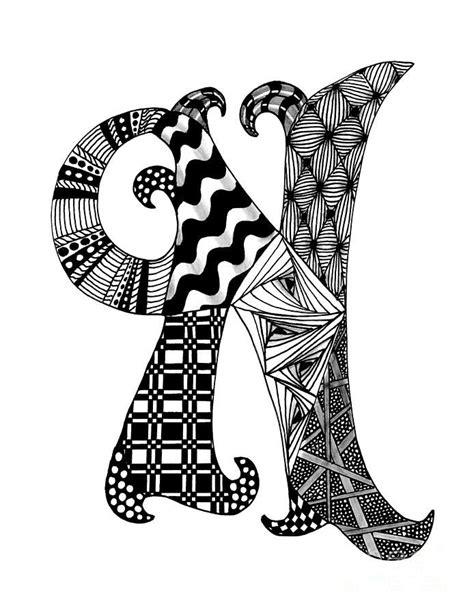 zentangle letter y monogram drawing zentangle alpha zentangle letter n monogram in black and white drawing 87671