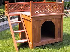 wooden dog house with balcony design ideas home interior With large dog house with balcony