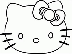 Hello Kitty Face Coloring Page | Wecoloringpage - AZ ...