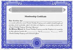 Blank Certificates - Limited Liability Company