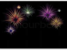 Colorful fireworks, seven exposions, xmas, celebration