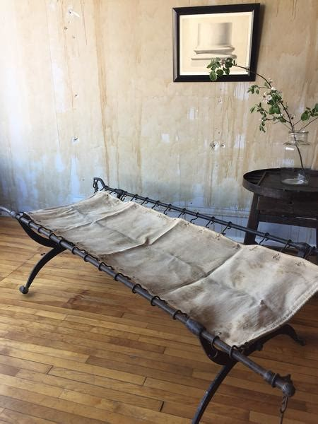 iron wrought bed campaign military forged antique beds cot italian chairs antiques