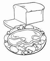 Meat Coloring Breakfast Pages Bread Healthy Protein Food Beef Getcolorings Printable Print Wi sketch template