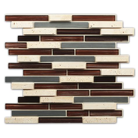 shop instant mosaic 2013 brown mixed material glass and