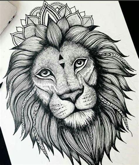 Tatouage Tete Lion