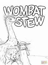 Wombat Emu Platypus Coloring Dingo Stew Pages Printable Activities Colouring Sheets Animals Week Supercoloring Bear Australian Pot Echidna Category Literacy sketch template