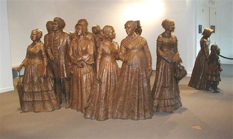 wave statue exhibit womens rights national