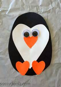 Heart Penguin Papercraft for Kids