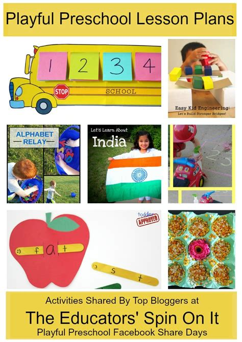 preschool learning activities weekly lesson plan  educators spin