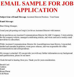 business letter example With email to apply for a job