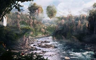 Avatar Wallpapers Landscape Pandora Mountains Hallelujah Zhangjiajie