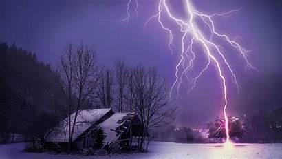 Lightning Strike Wallpapers Storm Winter Thousands Strikes