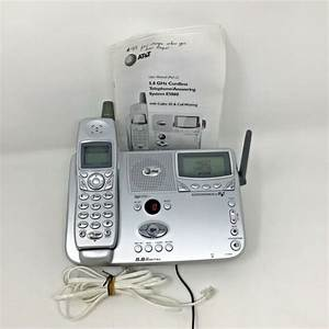 At U0026t 5 8 Ghz Cordless Telephone Answering System E5860