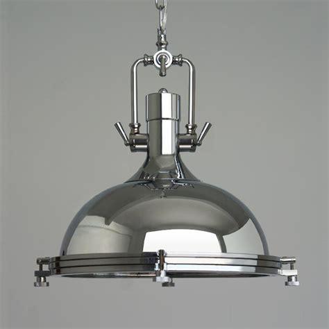 chrome pendant light industrial pendant light vincent chrome pendant l