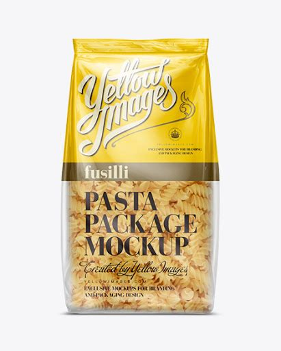 By graphaze in product mock ups. Download Psd Mockup Bag Clear Plastic Fusilli Mock-Up ...