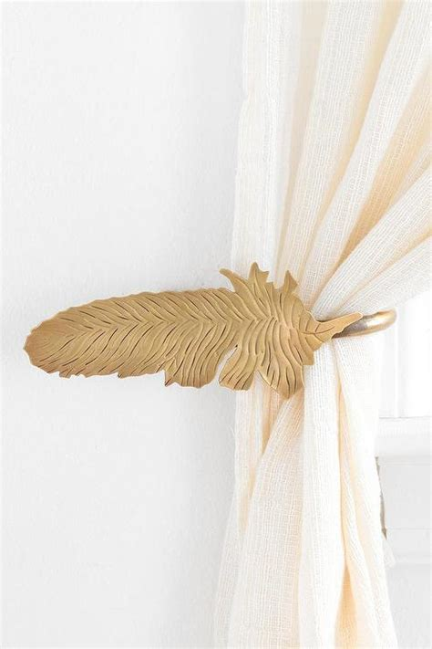 magical thinking feather curtain tie   urban outfitters