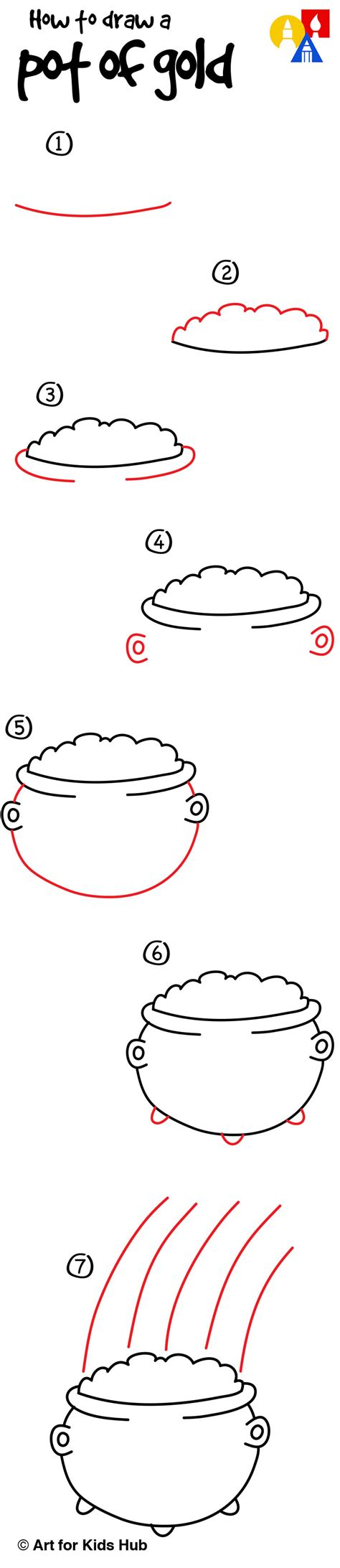 how to draw a pot of gold for hub