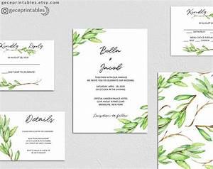 printable greenery wedding invitation template editable With free printable wedding invitations greenery