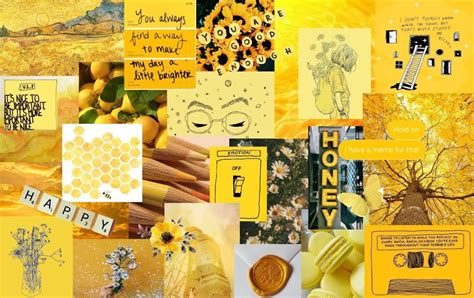 aesthetic wallpaper for laptop yellow backgrounds 10