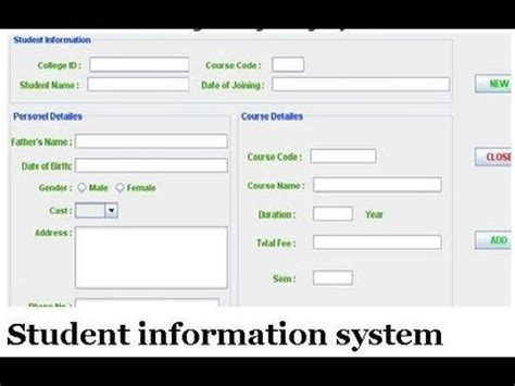 Student Information System Project Youtube
