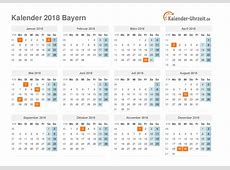 Feiertage 2018 Bayern + Kalender