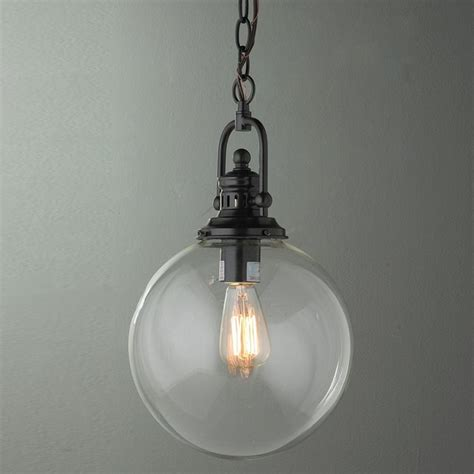 clear glass globe industrial pendant l shades by