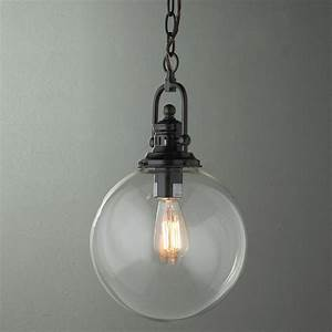 Clear glass globe industrial pendant lamp shades by