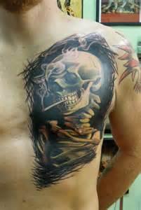 Smoking Skull Tattoo